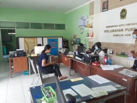 Penerapan Sosial Distacing di Pelayanan Kelurahan Purbayan