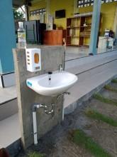 Fasilitasi Wastafel Untuk Cuci Tangan Dengan Sabun Dan   Air Mengalir