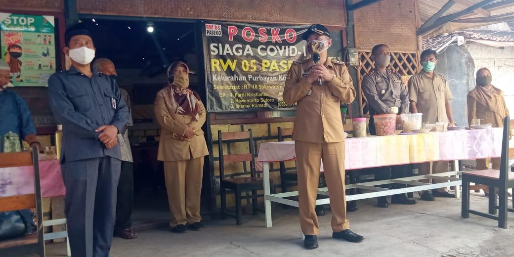 Forkopimka Kecamatan Kotagede Kunjungi Posko  Gogrok Covid-19 Kampung dan RW