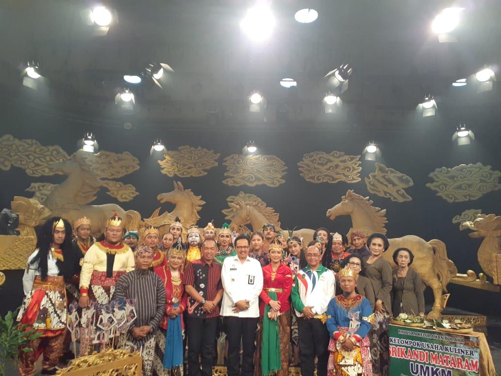 Tim Kesenian Srandul Purba Budaya  bersama Wakil Walikota Yogyakarta